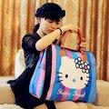 DLKLUO 2016 venta caliente bolso de la historieta de las mujeres de marcas famosas mujeres Emoji de equipaje bolsas de viaje bolsa de lona grande para las mujeres españa bolsos