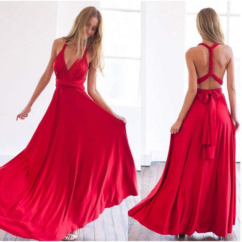 Trust LinDa Sexy Deep V-neck Long   Bridesmaid     Dresses   Spaghetti Straps Backless Party Wear   Dress   Prom Gowns 2018 Robe de Soiree
