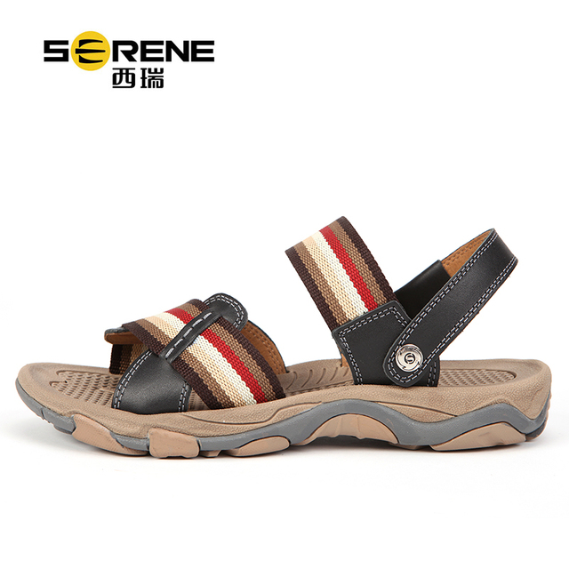 Men's Summer Shoes Breathable Leather Sandals Unisex Soft Durable Summer Shoes Anti-slip Multi-Function Beach Sandals Slippers