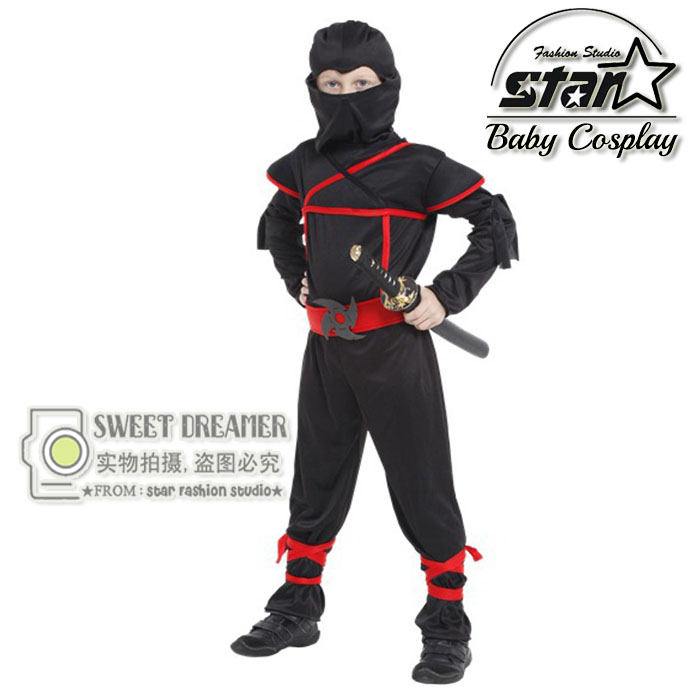 Anime Cosplay Costume Kids Halloween Ninja Japan Naruto Samurai Warrior Performance Clothing Children Stage Set In Sets From Mother