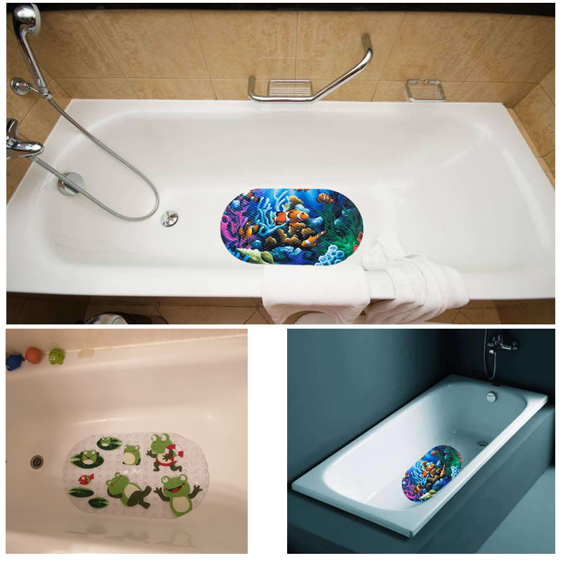 Cute Anti Slip Bathtub Mats Fish Animal