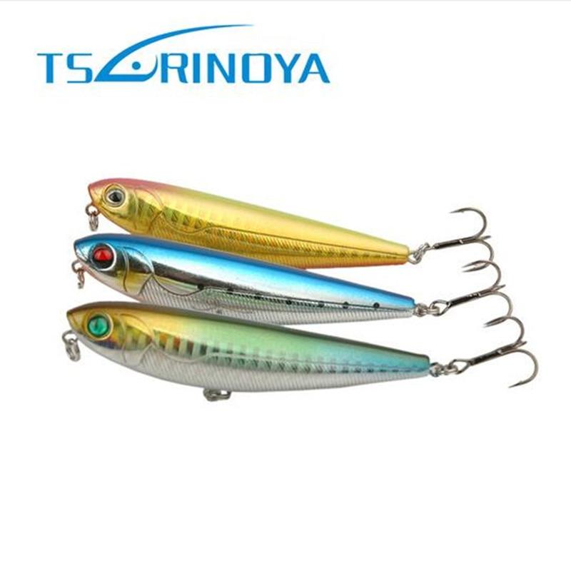 Tsurinoya 85mm 10g Pencil Bait Walking Dog Topwater Fishing Lure Iscas Artificiais Para Pesca Leurre Souple Peche Fishing Tackle