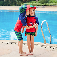 2018 새로운 어린이 수영복 아이 수영복 소년 스포츠 수영 비치 서핑 옷 소년 그릴 수영 정장 자외선 수영 착용