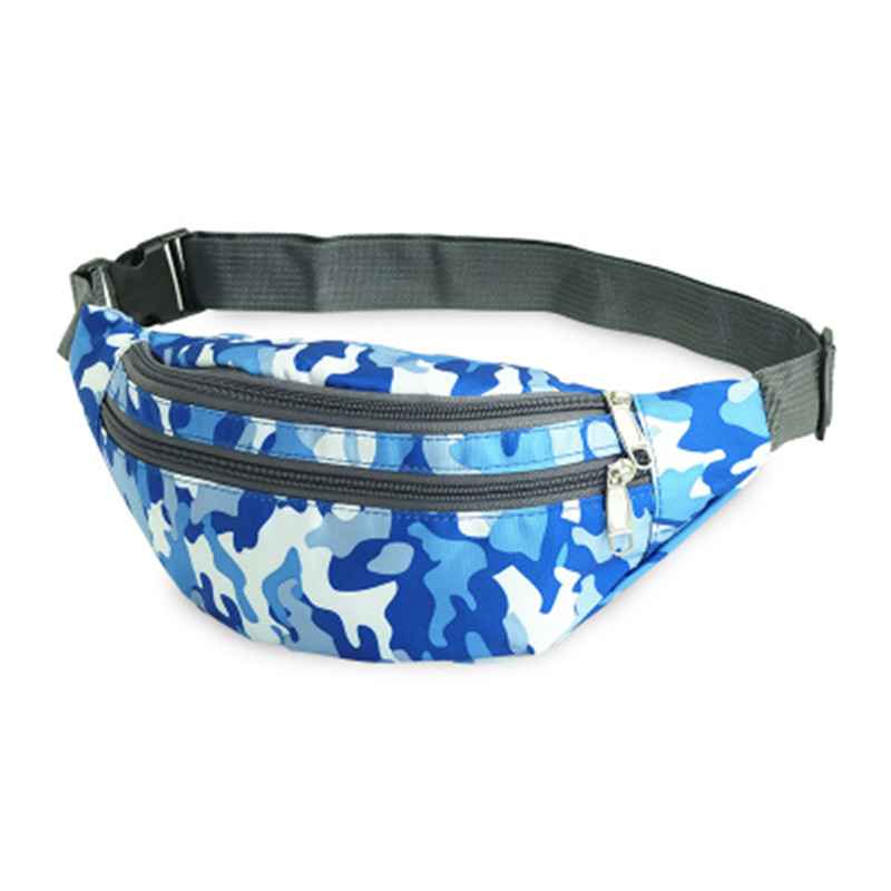 Ride Travel Blue Camouflage Waist Bag Bananka Waterproof Antitheft Fanny Pack Men And Women Walking Mountaineering Belly Band