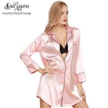 sparogerss women sleep robe 2017  faux silk summer style ladies silky single bathrobe  pyjamas lounge for woman sq318