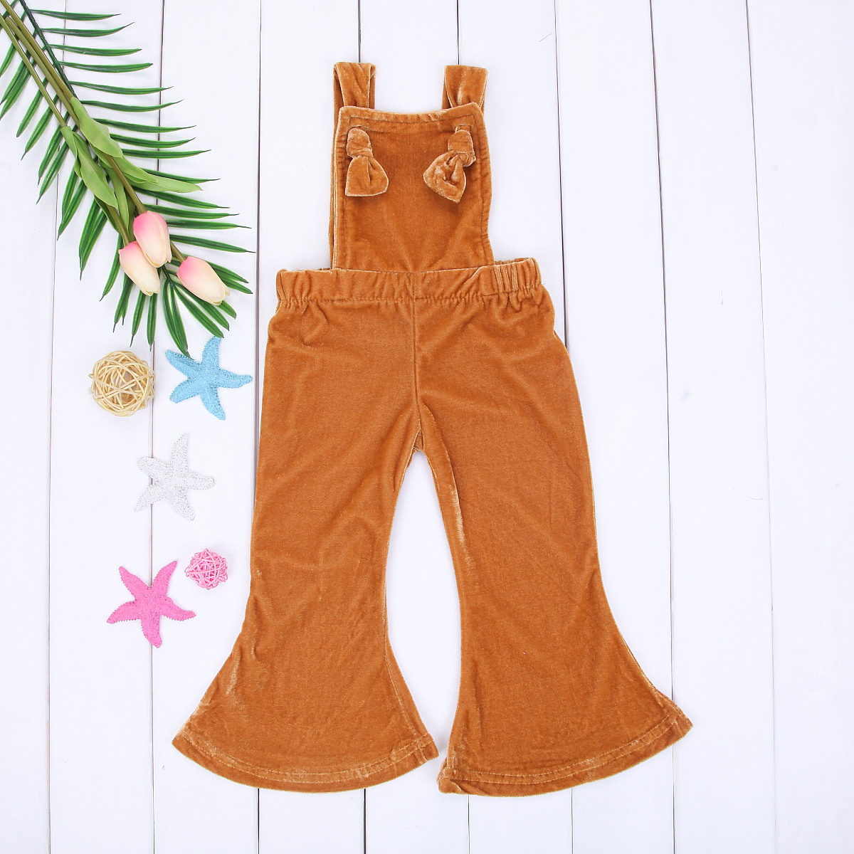 213ca1726ed Cute Toddler Kids Girl Velvet Bib Pants Backless Romper Jumpsuit Square  Collar Flare Pants Outfits Clothes-in Rompers from Mother   Kids on  Aliexpress.com ...