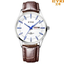 Brand EYKI 30M Waterproof Leather Strap Business Watches Roman Scale With Diamond Fashion Week Calendar Tide