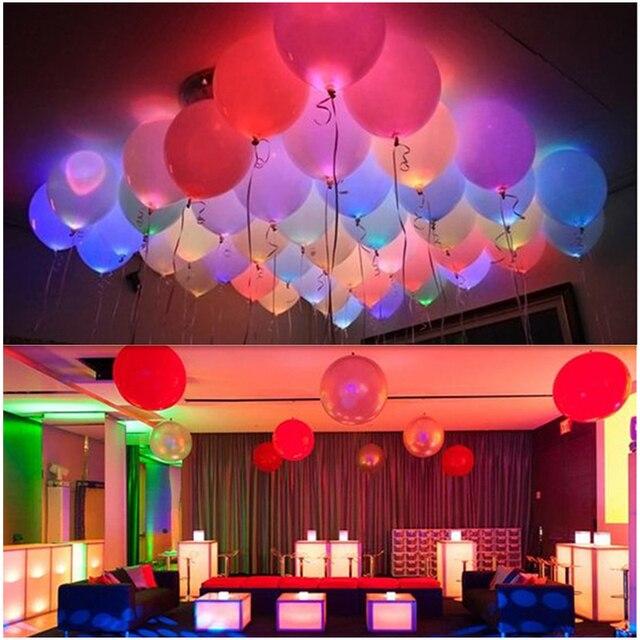 12 дюймов 5 шт. красочные вспышки с подсветкой led шар света Glow Фонари Хэллоуин С Днем Рождения шары партия украшения LED шар