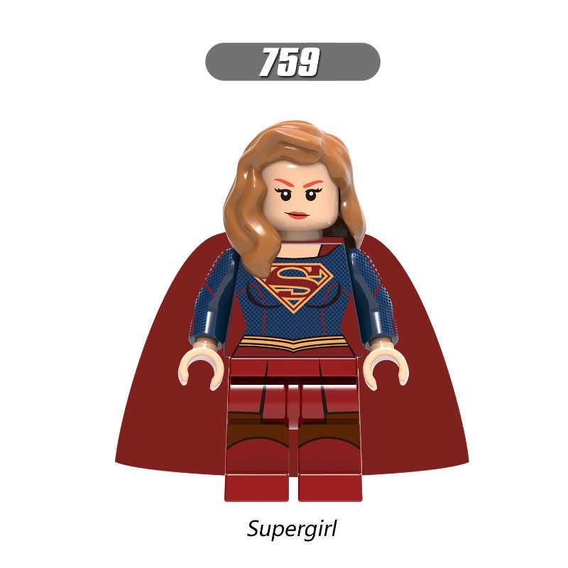 بطل السوبر الشكل بروميثيوس العقدة Supergirl الصيادة ريك العلم Emiko الملكة اللبنات مجموعة نموذج الطوب اللعب Legoingly