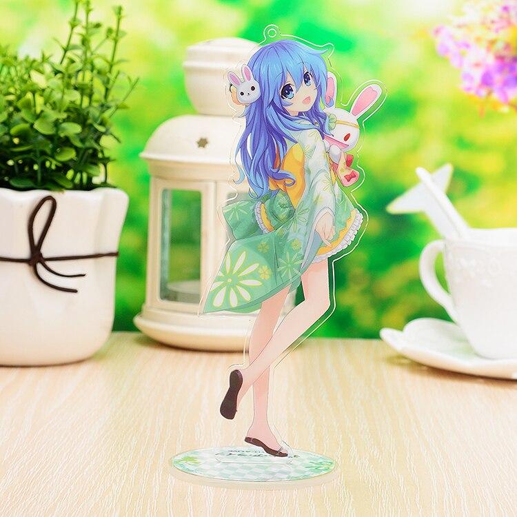 Anime DATE A LIVE Tobiichi Origami Itsuka Kotori Yoshino Yatogami Tohka Tokisaki Kurumi Stand Figure Desk Decor Model Plate