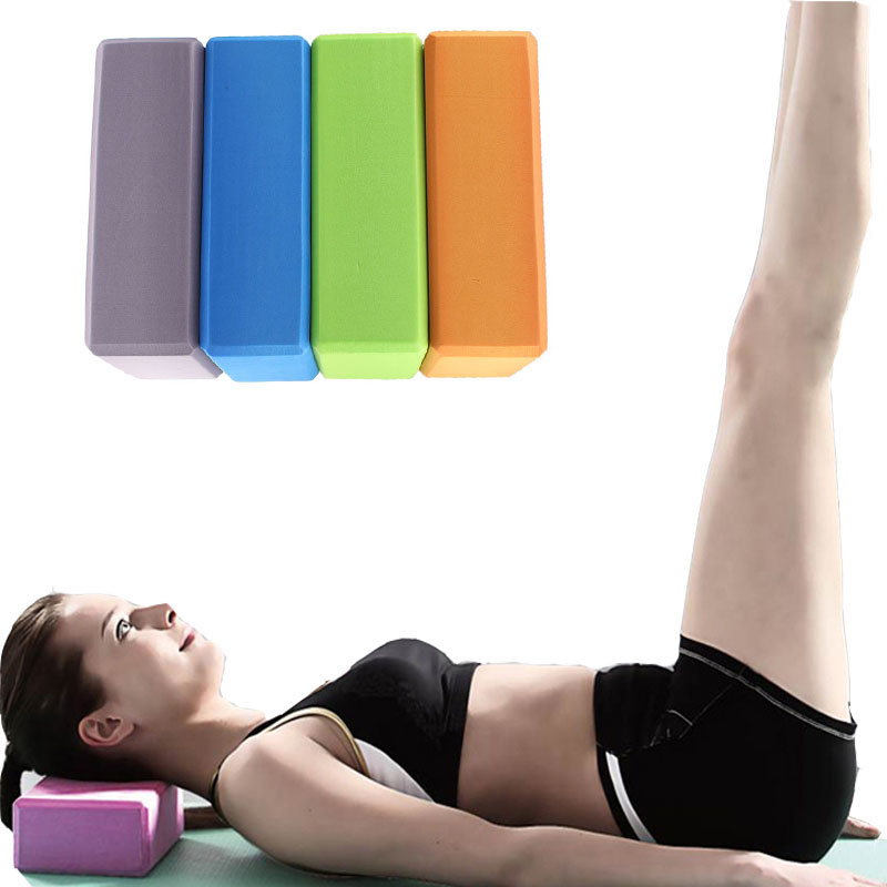 1 PC EVA Yoga Block Colorful Foam Block Brick Body Shaping Exercise Fitness Tool Exercise Workout Stretching Aid Health Training