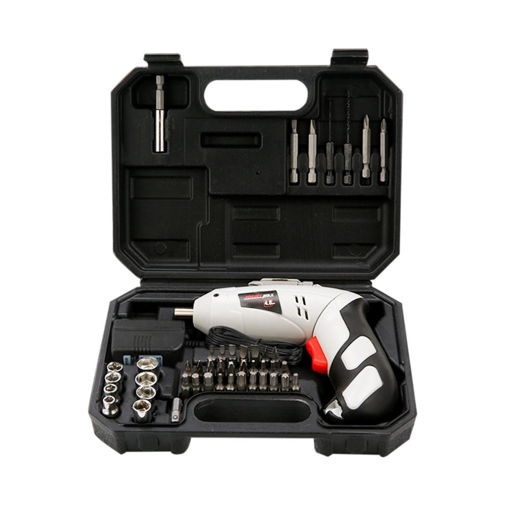 4.8V Electric Screwdriver Set Multifunctional Rechargeable Electric Hand Drill Household Cordless Drill With Carry Case 4 8vlithium battery 2 torque electric drill bit cordless electric screwdriver hand wrench with plastic case carry tool box set
