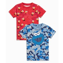 2019 summer children tshirts Cartoon print Cookie Monster cotton tee-shirt baby boys summer t shirt children tees kids clothing