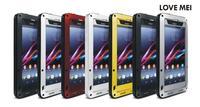 LIEFDE MEI Z1 Voor Sony Xperia Z1 Originele Krachtige Shockproof Stofvrije leven Waterdichte Metal telefoon Cover Case