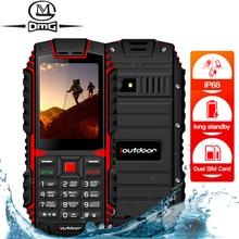 Ioutdoor IP68 Waterdicht Schokbestendig Mobiele Telefoon Russische Toetsenbord Draadloze Fm Unlocked Zaklamp Dual Sim Robuuste Mobiele Telefoon
