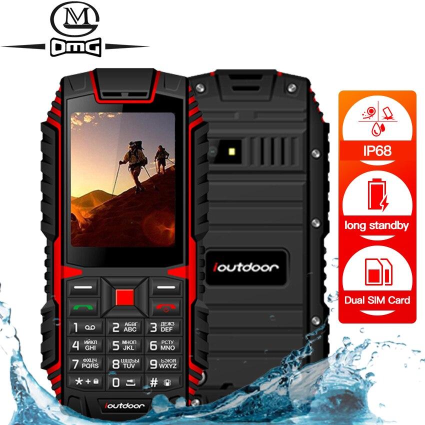 Ioutdoor T1 IP68 2MP robusto telefone celular teclado Russo À Prova D' Água à prova de choque do telefone móvel Câmera sem fio FM celulares desbloqueados