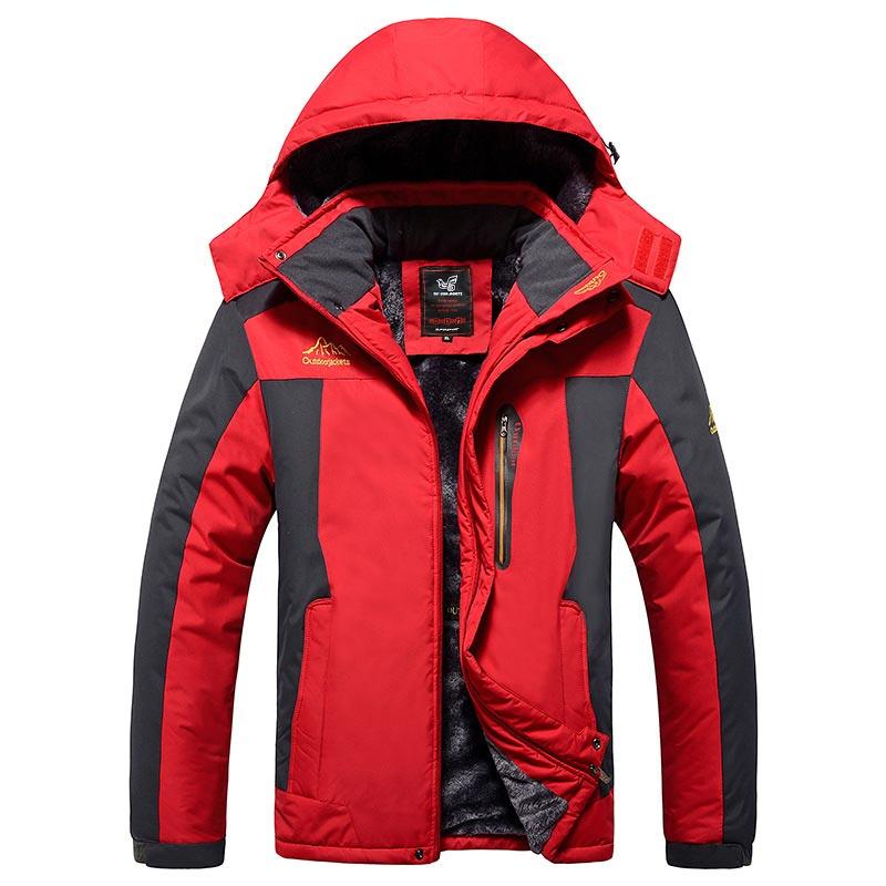 blue 9xl Outwear Vestes army Plus Black Green vent Mode Taille Parka Imperméable red Hommes Pardessus Coupe Manteau Polaire D'hiver Militaire tw8Oap