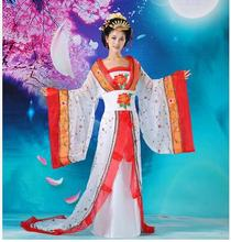 Luxury Women's dance costume Chinese Ancient clothing cosplay costume Tang Han Clothing princess costume queen clothes top grade chinese imperial queen costume of han and tang dynasty concubine fairy photography stage women dance costume trailing