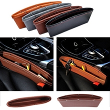 1pcs PU Leather Car Seat Gap Pocket Holder Organizer Catcher Catch Slit Storage Glove Box Slot