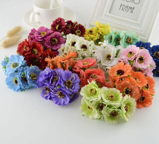 6 Pcs Soie Fleur De Cerisier Fleur Artificielle Pour La Decoration