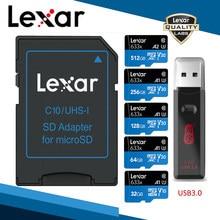 Lexar – carte Micro SD de classe 10, lecteur de carte mémoire de 64 go 256 go 128 go 256 go, lecteur USB de marque, 633x