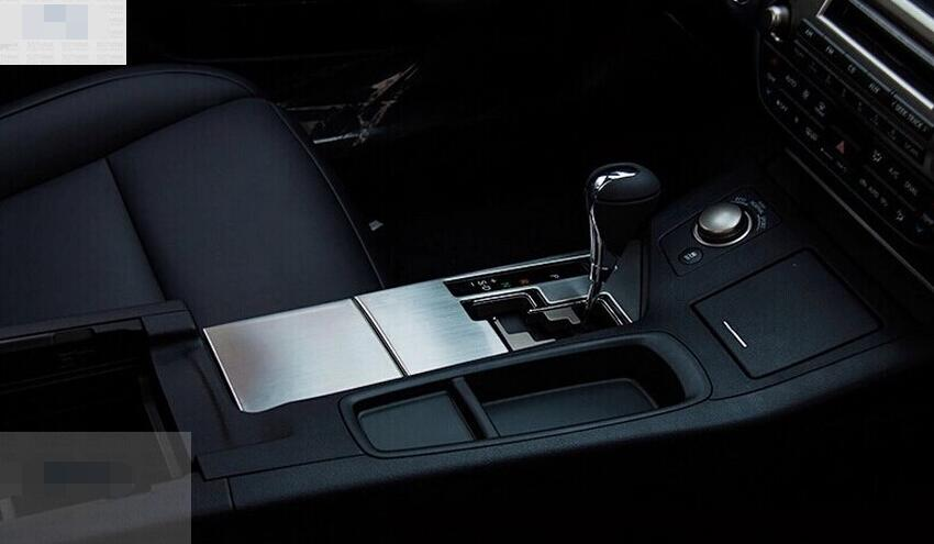 For <font><b>Lexus</b></font> ES <font><b>250</b></font> 350 300h <font><b>2014</b></font> Stainless Steel Automatic Transmission Cover trim ar Stalls Sequins 2pcs / set image