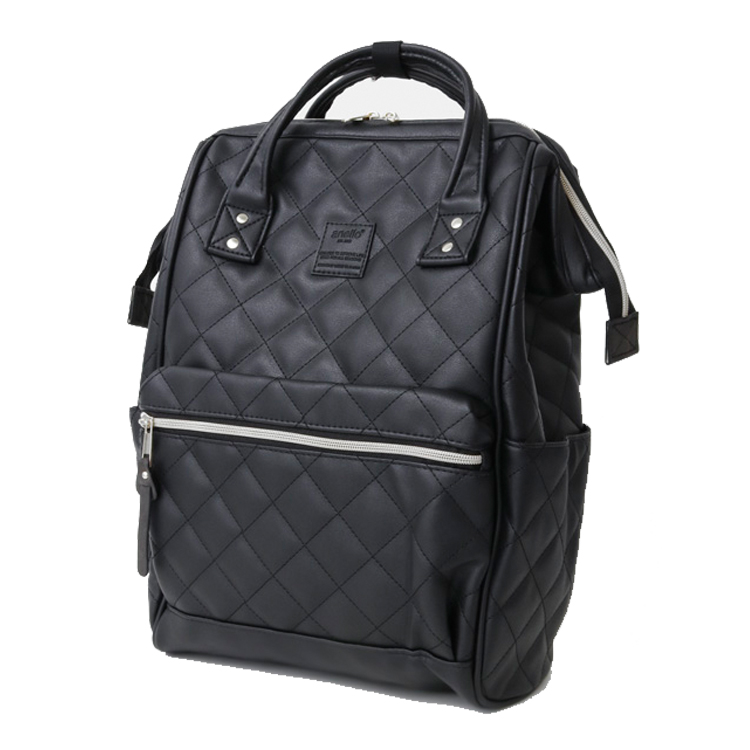 New brand anello pu plaid backpack, fashion campus  large men and  women school backpack  Leisure Laptop Travel BagsBackpacks   -
