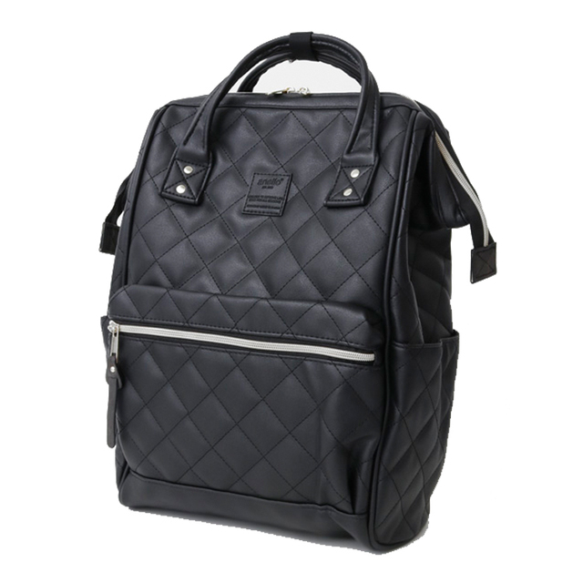 New brand anello pu plaid backpack, fashion campus  large men and women school backpack  Leisure Laptop Travel Bags