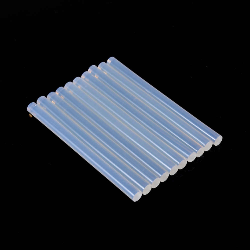 10pcs 7mmx100mm Clear Glue Adhesive Sticks For Hot Melt Gun Car Audio Craft Transparent For Alloy Accessories Album Repair Tools