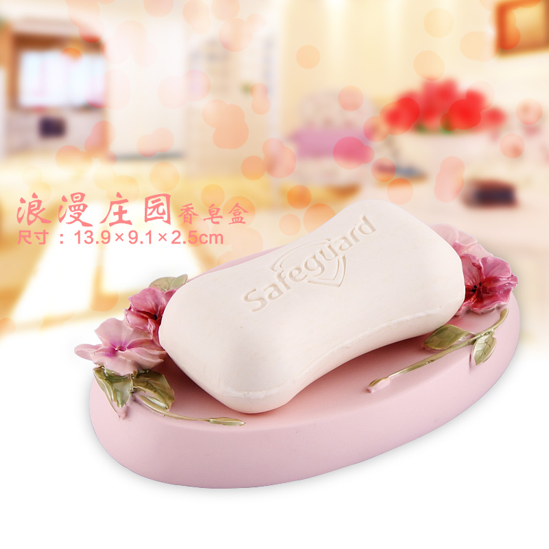European banquet soap box Lishui soap dish luxury bathroom products resin soap box soap holder drag