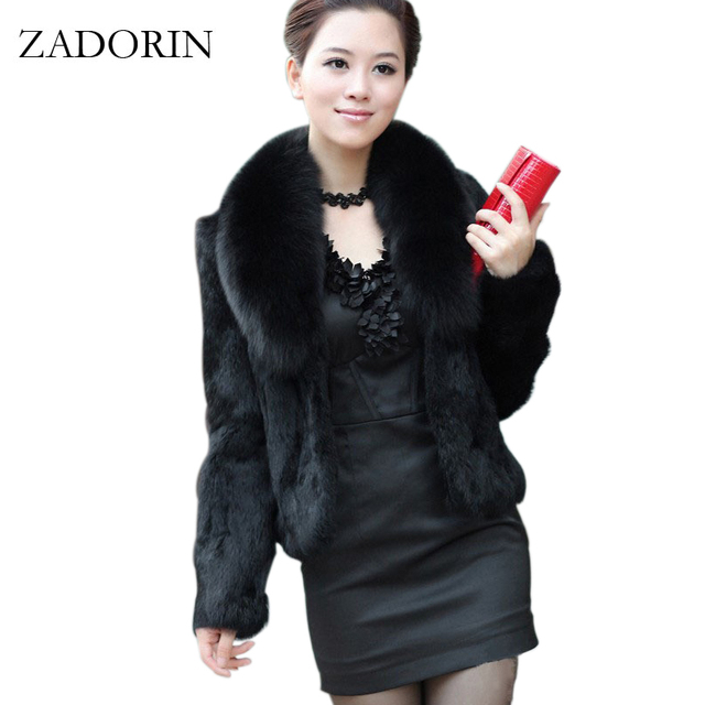 0193954e Faux Fur Poncho 2018 Fashion Women Short Faux Mink Fur Coat With Large Fur  Collar Fourrure Gilet Black White Fur Jacket abrigos