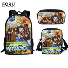 FORUDESIGNS Fashion School Bags Anime Beyblade Burst Evoluti