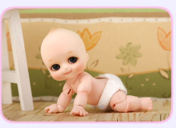 Flash sale!free shipping Free makeup&eyes included! Top quality 1/8 bjd baby doll soom nappy choo doll