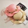 Случайный летом стиль романтический венок пляж шляпа летние шляпы для женщин вс hat chapeau femme
