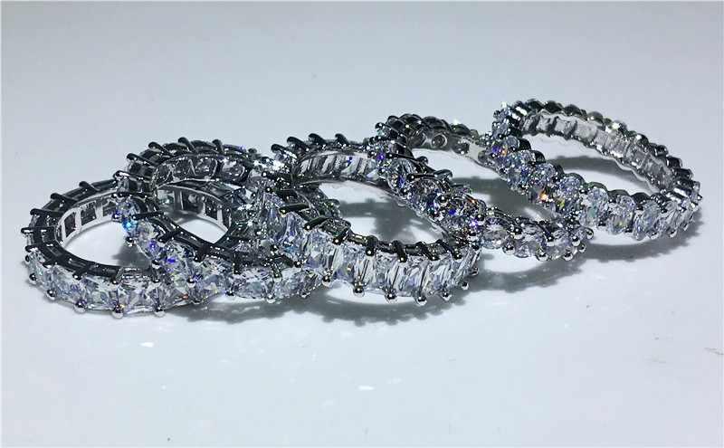 Vecalon 5 стиль палец обещания кольцо фианит AAAAA стерлингового серебра 925 обручальные Обручальные кольца для мужчин и женщин ювелирные изделия