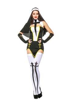 Las Mujeres De Halloween Cosplay Monja Gótica Disfraz