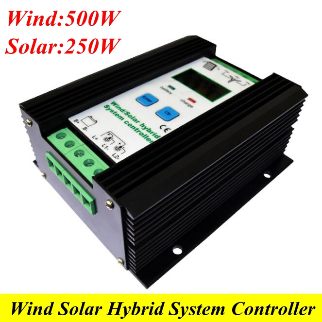 12V/24V 23A Wind Solar Hybrid Controller matched 500W Wind Turbine 250W PV Panel with Booster Charging & LCD Display Function free shipping 600w wind grid tie inverter with lcd data for 12v 24v ac wind turbine 90 260vac no need controller and battery