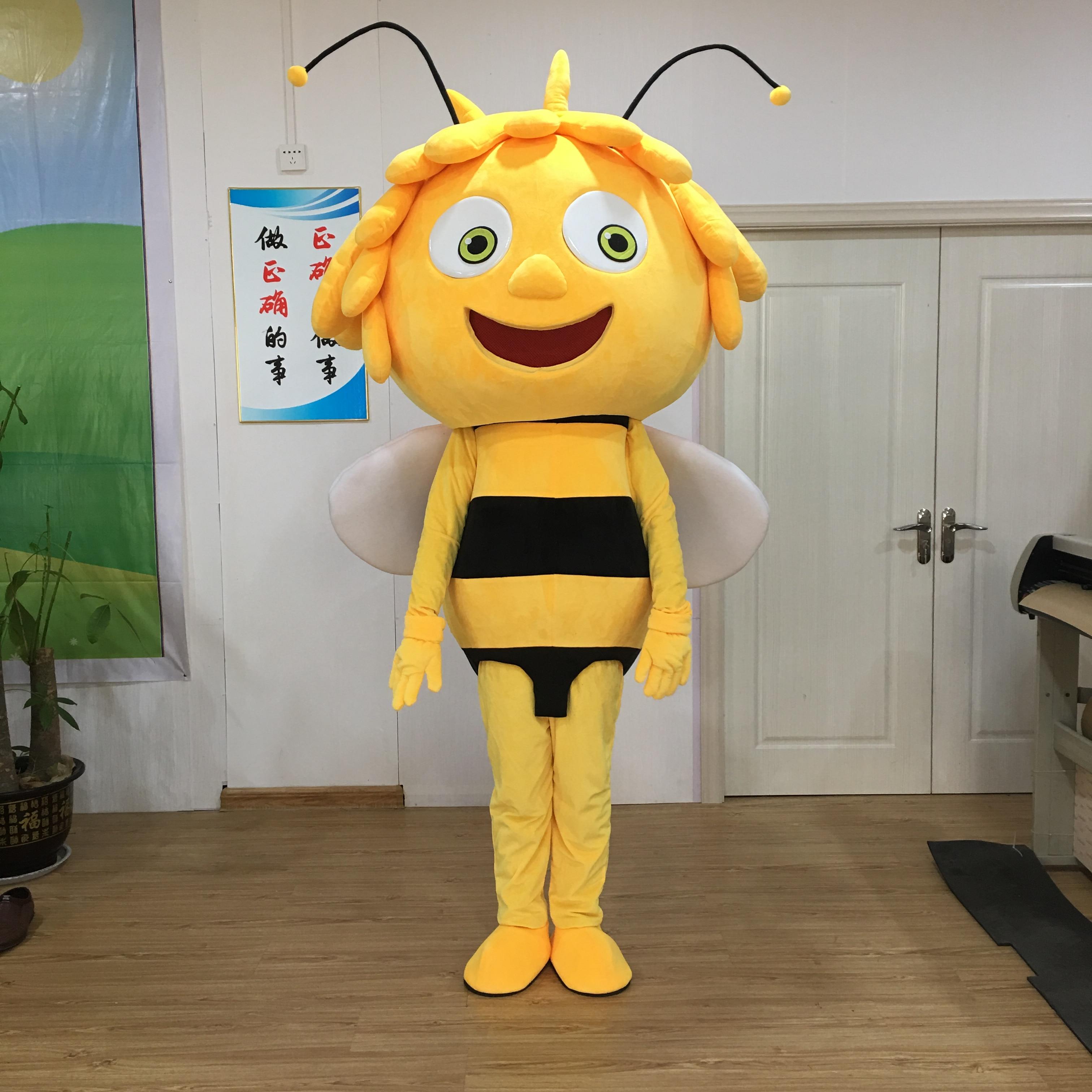 Персонаж Майя пчела маскоты костюм горячая распродажа все виды пчелиные костюмы для рождественской вечеринки костюм mascotte adulte необычные по