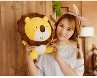 about 40cm cartoon yellow lion plush toy sunflower design lovely lion soft doll Christmas gift s2499