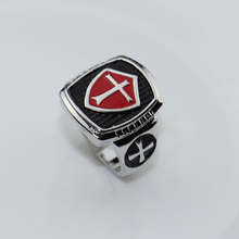 2017 Assassin's Creed Size 8-12 Stainless Steel Red Enamel Ring Assassins Creed Creed Cosplay Gamer Jewelry Knights Templar Ring