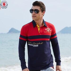 Image 3 - Avrupa boyutu yeni marka erkek katı uzun kollu Polo GÖMLEK sonbahar tam kollu sıcak gömlek Casual baskı üstleri kot mavi 057