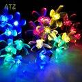 10M 60 LEDs/ Cherry Pendant LED solar  string  Lights Decoration For Christmas/Party  Outdoor Garden La Luce solare.