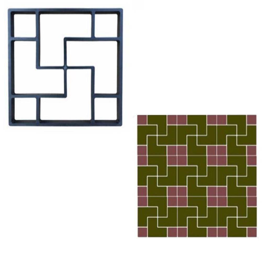 Concrete Molds  New European and American Cement Floor Tiles DIY Paving Lawn Low Mold for garden molde para cemento suelo-in Paving Molds from Home & Garden