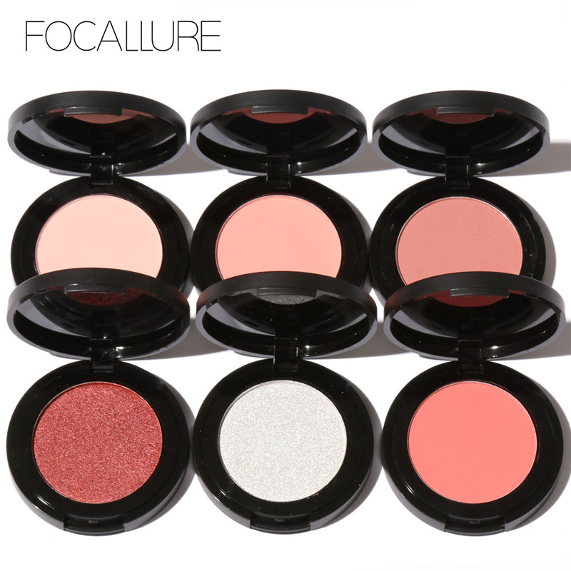 Focalure Blush Palette Makeup Naked Matte Blusher Bronzer Prášková paleta Značka Kosmetika Make Up Shimmer 11colors