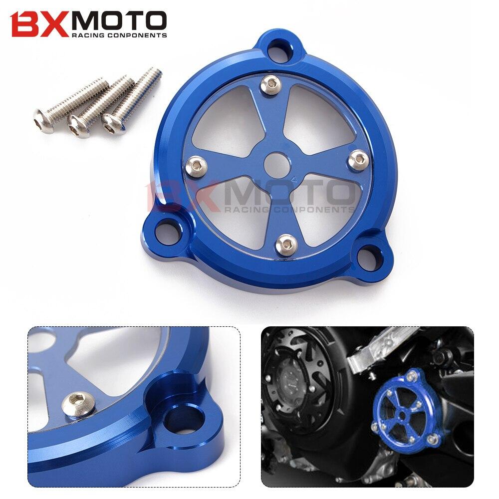 Motocicleta accesorios moto CNC Marco De Aluminio Azul Agujero Cubierta Frontal