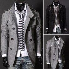 Fashion Frühling Herbst Mann Trenchcoat Schlank Zweireiher Wollmantel Marke Oberbekleidung Männer Freizeitjacke Asiatischen/Größe M-3XL