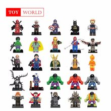 Newest legoing Marvel Super Heroes Thanos Spider man Iron Man Avengers 3 Infinity War Model Building Blocks Toys kit Figures(China)