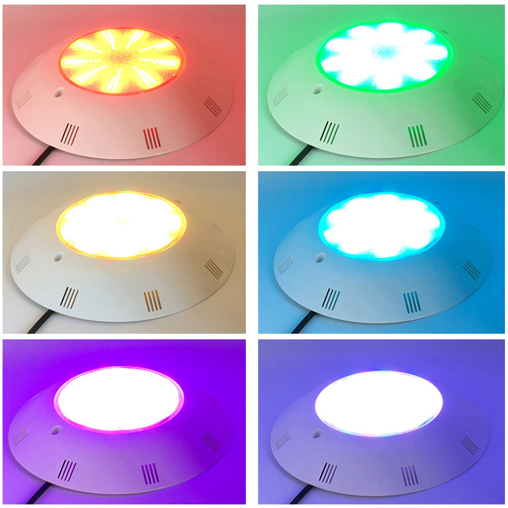 LED Pool Light Lamp Afstandsbediening RGB 18 W 25 W 36 W Hars Gevuld Onder water Spotlight Wandmontage warm Koel Wit - 5
