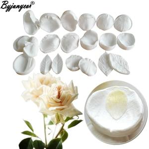2020 NEW Rose Petals Veiners & Cutter Meridians Sugarflower Wafer Paper GumPaste Clay Fondant Mould Cake Decorating Tools cs365
