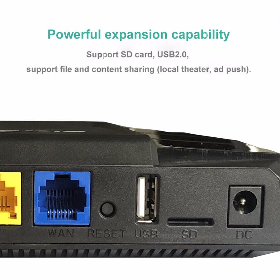 Routeur lte10/100/1000 mbps 11ac 4g carte sim routeur gigabit répéteur wi-fi 2.4g 5g support vpn pptp et l2tp longue portée wifi mesh - 2
